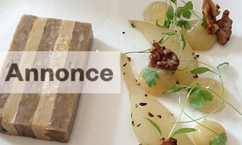 Foie Gras - med pære og valnødder.